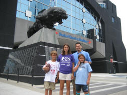 Outside Bank of America Stadium