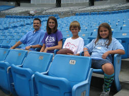 Seats at Bank of America Stadium