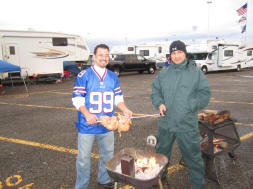 Tailgating in the RV Lot at Ralph Wilson Stadium