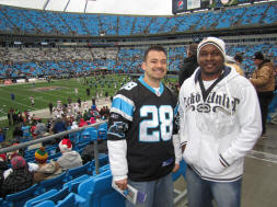 Hans and Jermain at Bank of America Stadium - Charlotte, NC