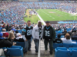Hans, Jermain and Erik - Carolina Panthers Stadium