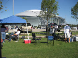 Designated Tailgating areas at Cowboys Stadium