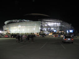 Cowboys Stadium at Night