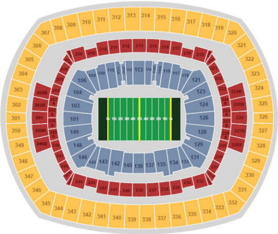 New Meadowlands Stadium Seating Chart