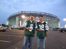 Me and Matt outside New Meadowlands Stadium