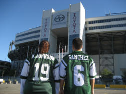 Keyshawn Johnson and Mark Sanchez