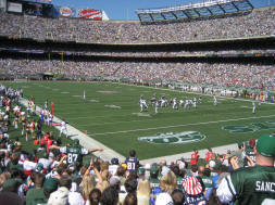 A view from the seats at Jets Stadium