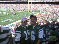 Crystal and I rallying to a Jets win