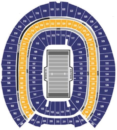 denver broncos stadium map Nfl Football Stadiums Denver Broncos Stadium Sports Authority denver broncos stadium map